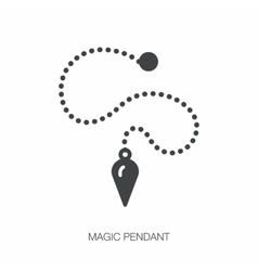 Magic pendant line icon hypnosis sign vector