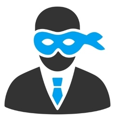 Masked thief flat icon vector