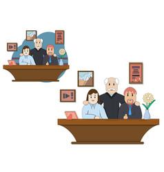 meeting business people teamwork vector image