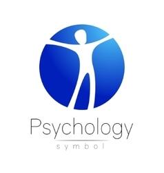 Modern man Logo Sign of Psychology Human in a vector