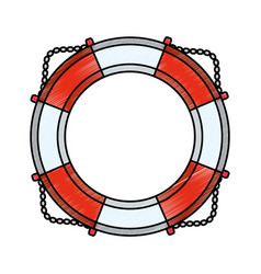 nautical life ring vector image