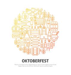 oktoberfest circle concept vector image