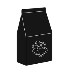 Pet food icon in black style isolated on white vector