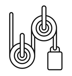 Physics roller icon outline style vector