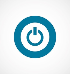 Power on bold blue border circle icon vector