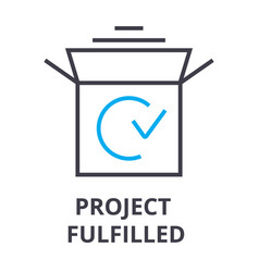 project fulfilled thin line icon sign symbol vector image