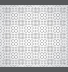 Seamless geometric pattern of circles on a white vector