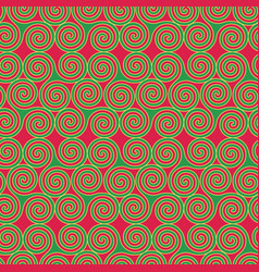 Seamless pattern with triskele shapes vector
