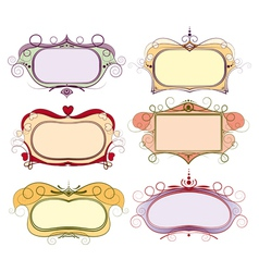 set of multi colored frame vector image