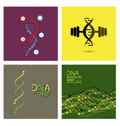 set of science template wallpaper or banner with vector image