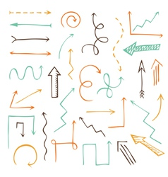 set of sketch arrows vector image