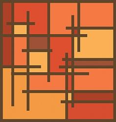 sienna frame vector image