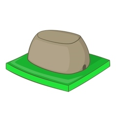 Sigiriya rock icon cartoon style vector image