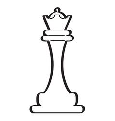 Sketch of a queen chess piece vector