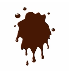 Spot of chocolate icon vector
