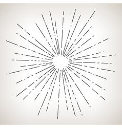 Sun Burst Retro Style vector