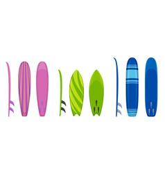 Surfboard icons set cartoon style vector