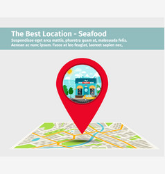 the best location seafood vector image