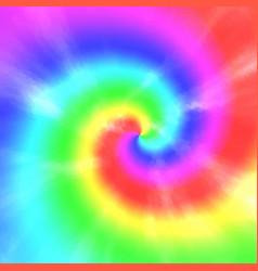 Tie dye spiral pattern vector