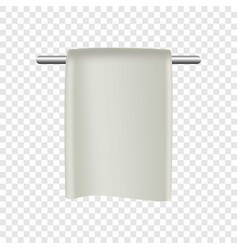 towel in bathroom mockup realistic style vector image