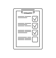training plan tablet icon vector image