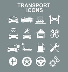 transportation icons vector image