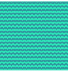 Turquoise and teal waves seamless pattern vector