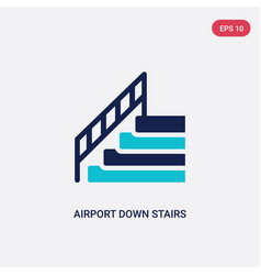 two color airport down stairs icon from airport vector image