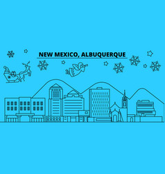 United states albuquerque new mexico winter vector