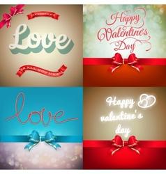 Valentine card set EPS 10 vector image