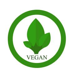 vegan icon vector image