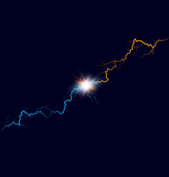 versus background blue and orange forces lights vector image