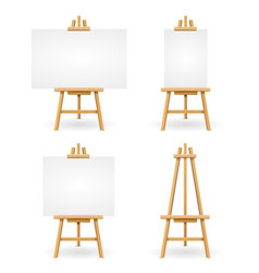 wooden easel or painter desk vector image