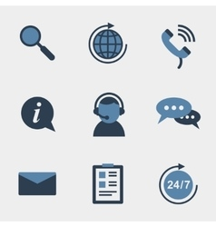 Flat support icons vector image vector image