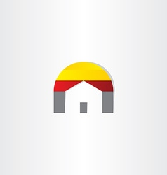 home real estate business icon vector image