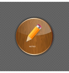 Notes application icons vector image vector image