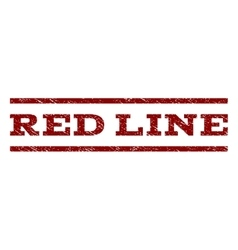 Red Line Watermark Stamp vector image vector image