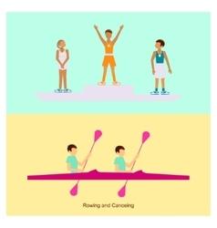 Sport people activities icon vector image vector image