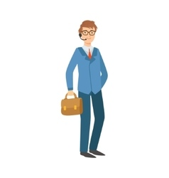 Businessman Office Worker Part Of Happy People vector image