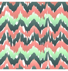 Colorful zigzag geometric seamless pattern in pink vector image