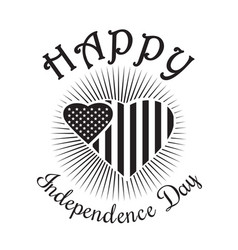 happy independence day of america us flag vector image vector image