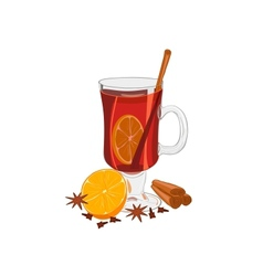 Hot mulled wine vector image vector image