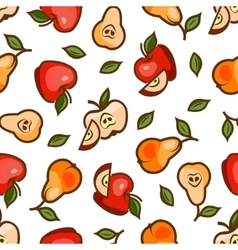 apples and pears seamless pattern vector image