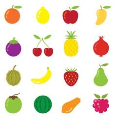 Mixed Fruits Icons vector image vector image