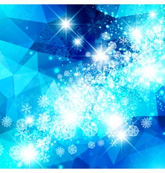 Snowflake Christmas Star Background vector image vector image
