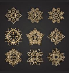 Thai art pattern design set vector image