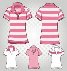 women polo t shirt vector image vector image