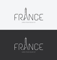 alphabet france design concept with flat sign vector image vector image