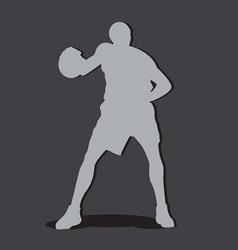 basketball player shilouete vector image vector image