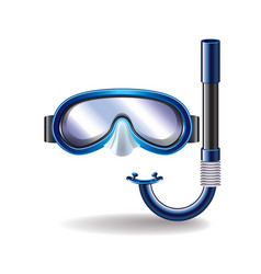 diving mask isolated vector image vector image